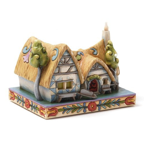 Enesco Disney Traditions by Jim Shore Snow White Cottage Figurine, 4.875-Inch - SHOPME.COM