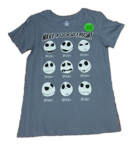 Disney Jack Skellington Faces Graphic T-Shirt - Medium - SHOPME.COM