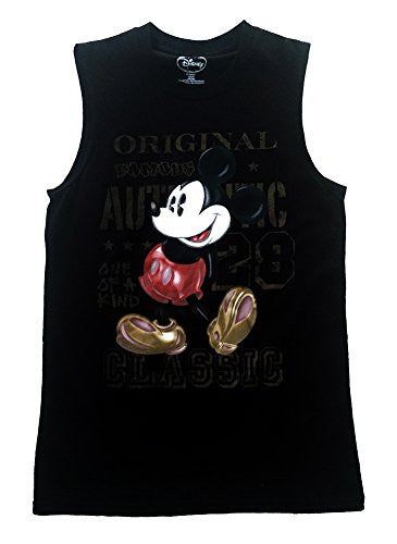 Disney Mickey Mouse Mens Shooter Tank Original 28, Black - SHOPME.COM