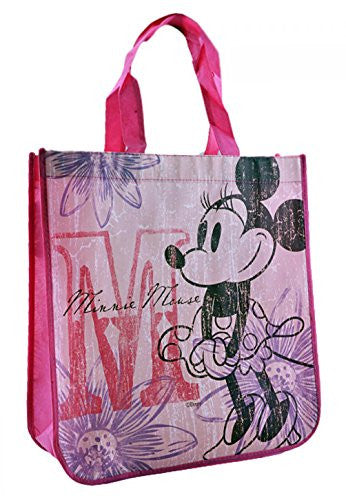 Disney Vintage Minnie Mouse Reusable Tote Bag (13 x 14 x 5 Inches) - SHOPME.COM