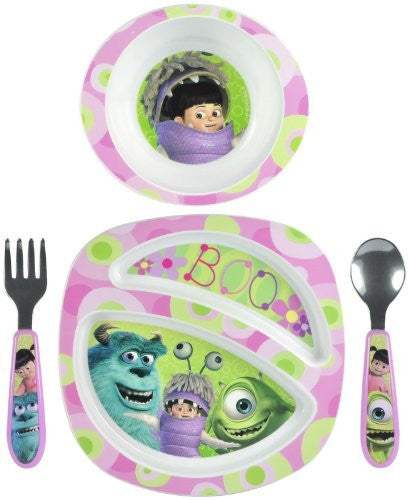 The First Years Feeding Set - Monsters Inc Girl- 4 Pc - SHOPME.COM