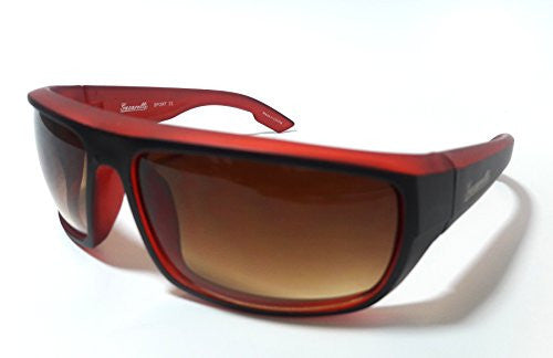 Fashion Sport Adult Sunglasses (Red/Black, Gradient Brown) - SHOPME.COM