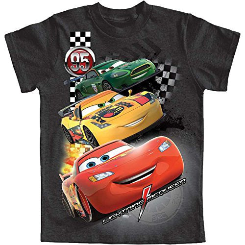 Disney Cars Little Boys Neck and Neck Graphic T Shirt (XS (4/5))