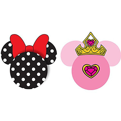 Disney Minnie Mouse and Princess Antenna Toppers Black White Pink - SHOPME.COM
