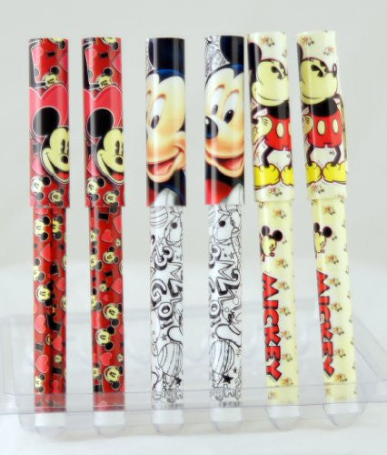Dinsey Mickey Mouse I Heart Black and White Retro 6 Pack Pen