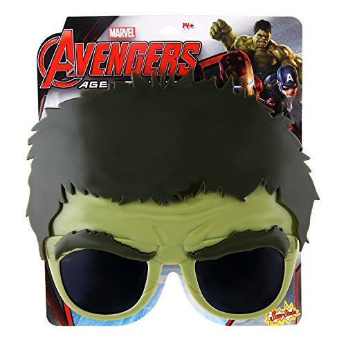 Sunstaches Officially Licensed Avengers Hulk Sunglasses - SHOPME.COM