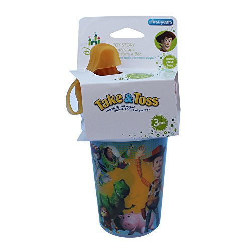 The First Years Take & Toss Spill-Proof Sippy Cups - Toy Story - 10 oz - 3 ct, Size 8 - 10 oz - SHOPME.COM