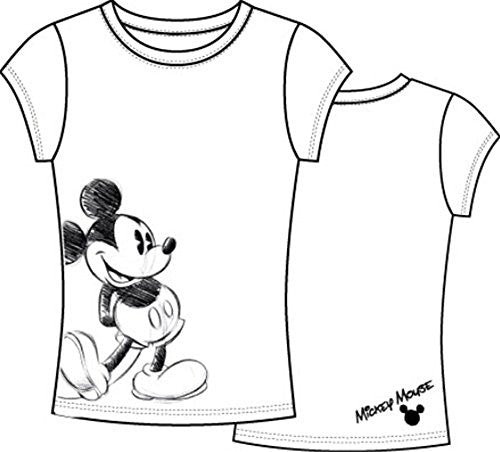 Disney Womens Fashion T Shirt Bold Mickey, White - SHOPME.COM