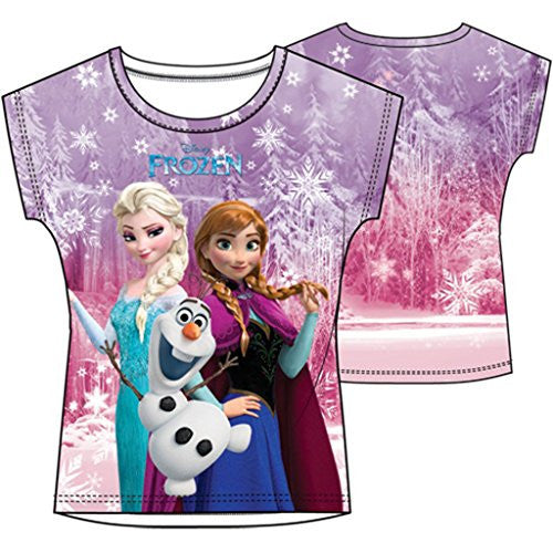 Disney Youth Sublimated Top Frozen Group Sublimated - SHOPME.COM