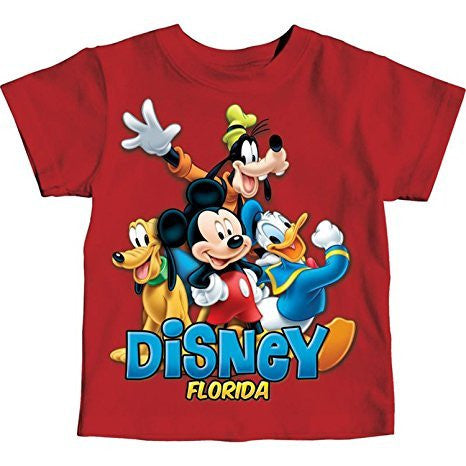 Disney Florida Little Boys Toddler Mickey Mouse & Friends T Shirt - SHOPME.COM