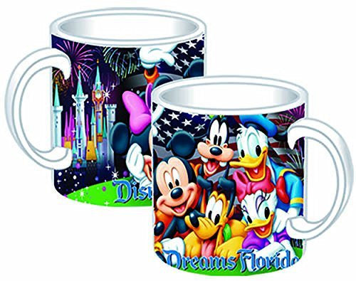 Disney Mickey Mouse Donald Duck Goofy Pluto Minnie Mouse Jumbo Ceramic Mug Firework Mug Jumbo 14oz Ceramic Mug - SHOPME.COM