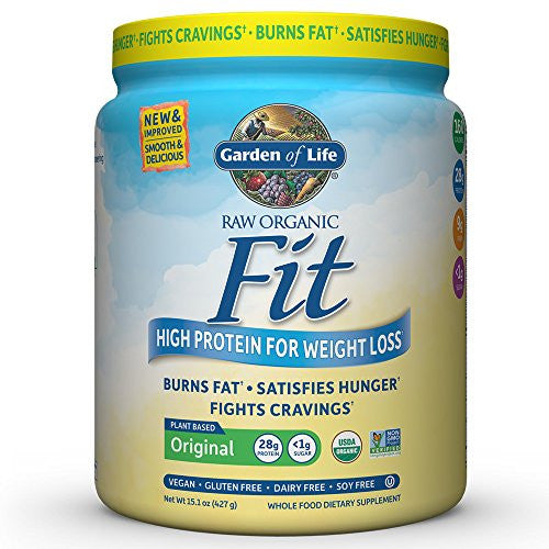 Garden of Life Organic Meal Replacement - Raw Organic Fit Vegan Nutritional Shake for Weight Loss, 15.1oz (427g) Powder - SHOPME.COM