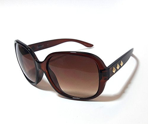 Fashion Adult Square Sunglasses (Brown, Gradient Brown) - SHOPME.COM