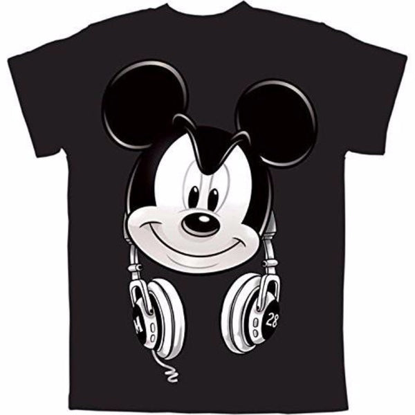 Mickey Mouse Headphones Big Boys Graphic T Shirt - SHOPME.COM