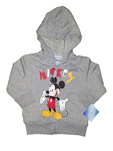 Disney Baby Mickey Mouse or Minnie Mouse Toddler Fashion Sweat Shirt Hoodie (3T)