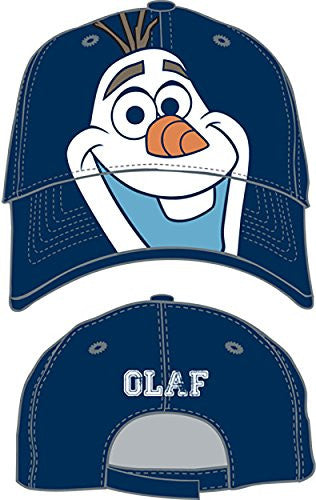 Disney Boys Big Face Olaf Baseball Cap - Blue