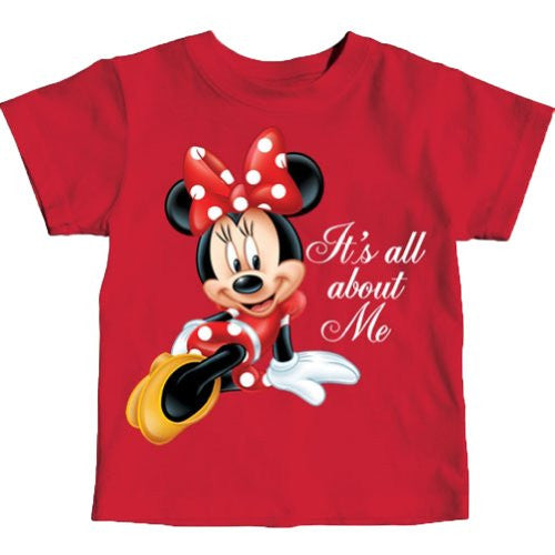 "Minnie Mouse Toddler Girls ""It's All About Me"" T Shirt (3T) - SHOPME.COM"