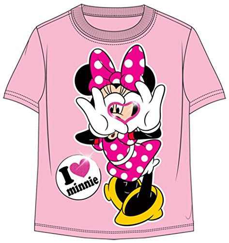 Disney Toddler Girls T-Shirt Luv Minnie Pink - SHOPME.COM