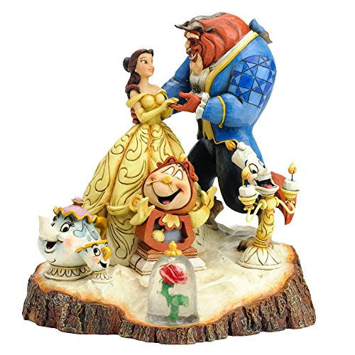 Disney Traditions by Jim Shore Beauty and the Beast Six Character Stone Resin Figurine - SHOPME.COM