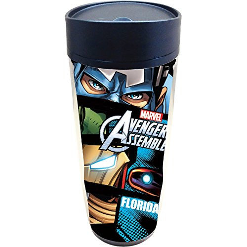 Marvel Eyes Captain America Hulk Travel Mug (Florida Namedrop) - SHOPME.COM