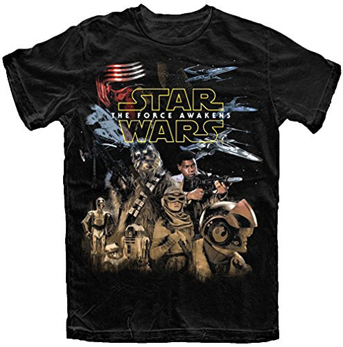 Star Wars Big Boys The Force Awakens Resistance T Shirt (XL (14/16)) - SHOPME.COM
