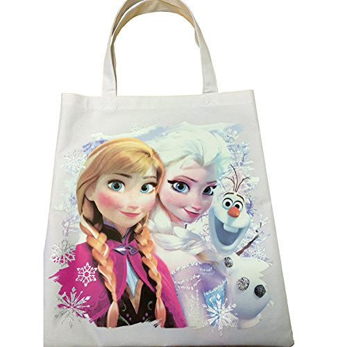 Disney Frozen Group Elsa Anna Olaf Canvas Tote - SHOPME.COM