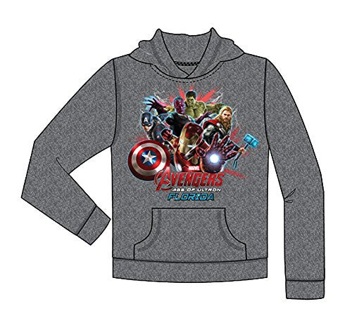 Marvel Iron Man Thor Captian America Hulk Avengers Youth Gray Sweatshirt Hoodie - SHOPME.COM