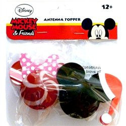 Minnie Mouse Peppermint and Mickey Mouse Santa Antenna Toppers' - SHOPME.COM
