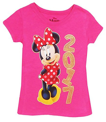 Disney Girls Minnie Mouse Golden 2017 Tee - SHOPME.COM