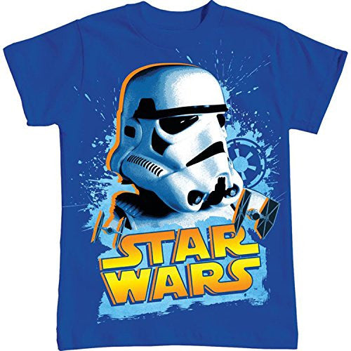 Star Wars Big Boys Storm Trooper Splatter T Shirt - SHOPME.COM