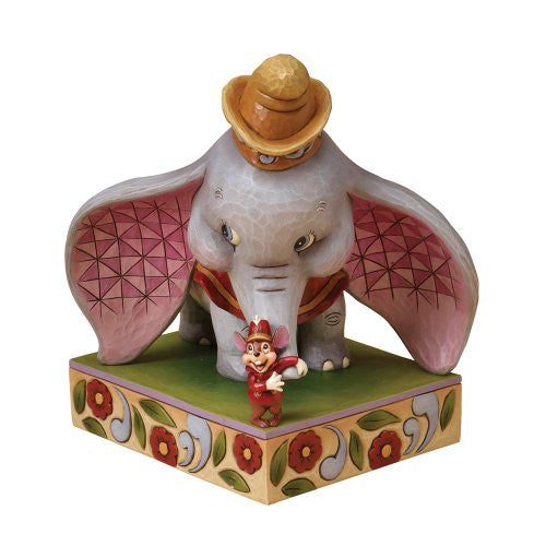 Disney Traditions designed by Jim Shore for Enesco Dumbo with Timothy Mouse Figurine 8 IN - SHOPME.COM
