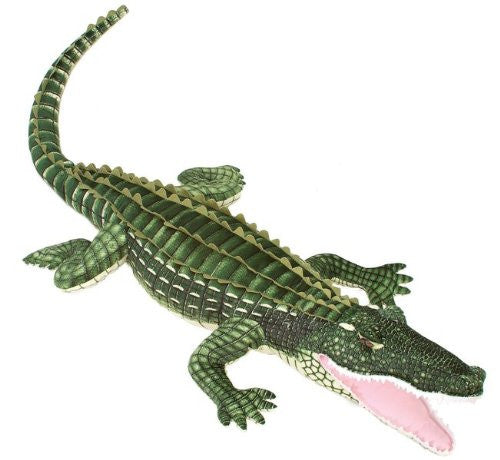 "72"" Lifesize Alligator Green Gator Plush Stuffed Animal Toy by Fiesta Toys - SHOPME.COM"