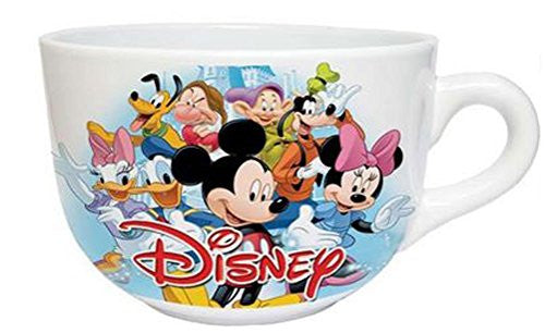 Disney Character Cast 24 Ounce Soup Mug - Princesses, Villains, Mickey, Minnie, Donald, Pluto, Dwarfs - SHOPME.COM