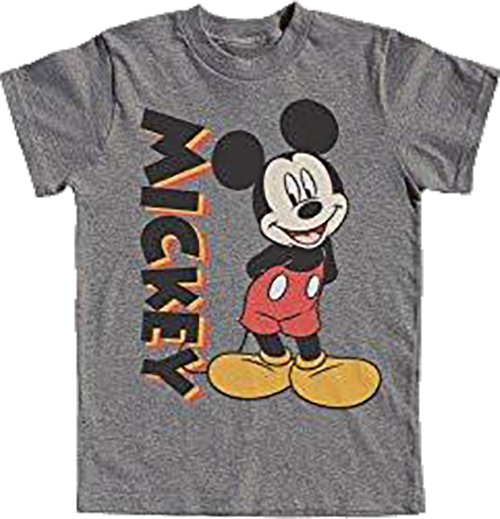 DISNEY STANDING MICKEY MOUSE YOUTH BOYS T SHIRT (XL-16/18) - SHOPME.COM