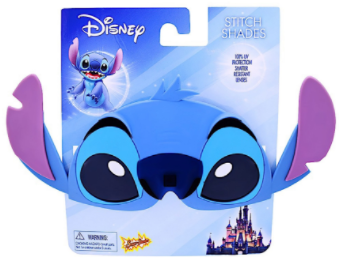 Disney Lilo and Stitch Stitch Sun-Stache Character Sunglasses, One Size … - SHOPME.COM