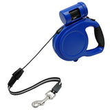 Retractable Dog Leash With Waste Bag Holder