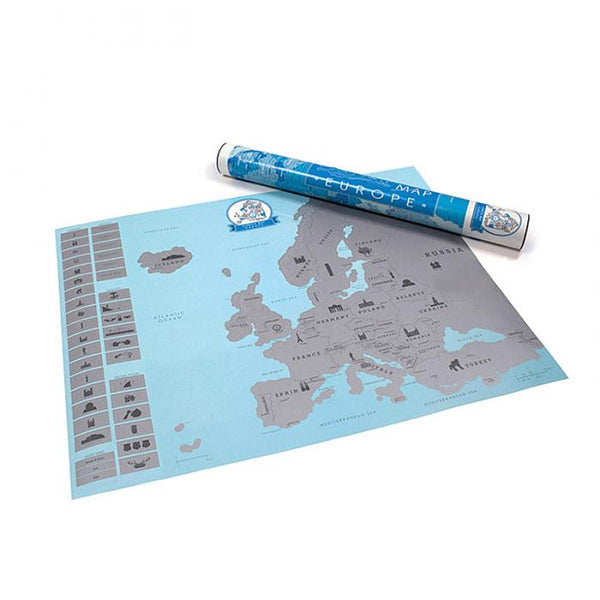 HOT! Europe Scratch-Off Map Poster