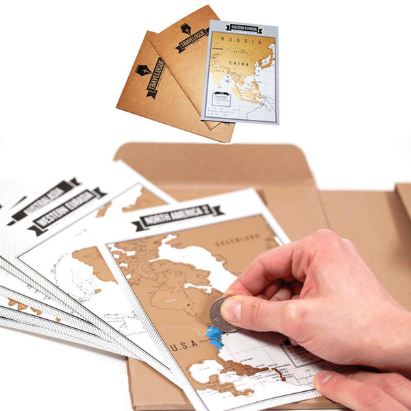 HOT Scratch Map Notebook - Travelougue