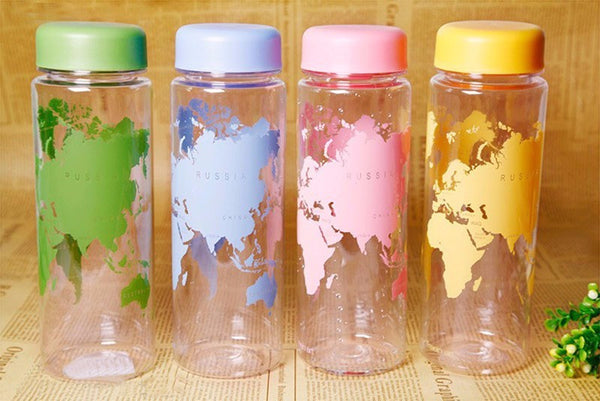 Fashionable Water Bottle with World Map - SPECIAL OFFER
