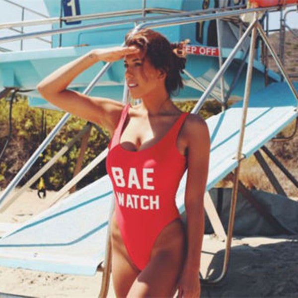 """Bae Watch"" One Piece Swimsuit"