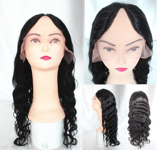 Brazilian Hair Deep Body Wave U part wig 18'' #1