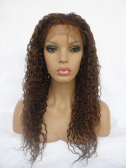 Full Lace Brazilian Hair Wig Water Wave #4 20 inches