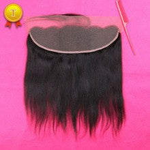 "Silky Straight  Lace Frontal Piece 12"" #1B"
