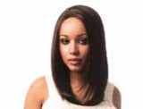 Luxurious Synthetic Hair Lace Front Wig - Dainty