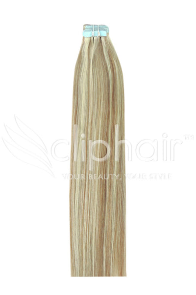 16 Inch Tape in Remy Human Hair Extension, Blonde Mix #18/613