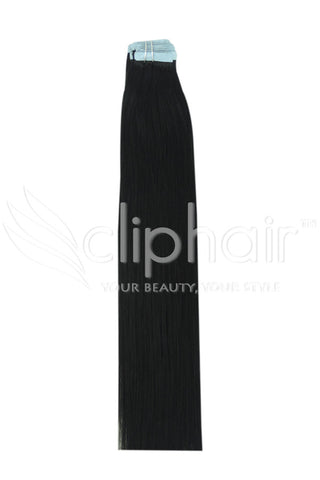 20 Inch Tape in Remy Human Hair Extension, Jet Black #1