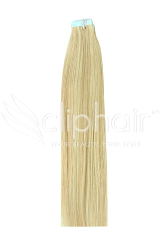 20 Inch Tape in Remy Human Hair Extension, Blonde Mix #16/613