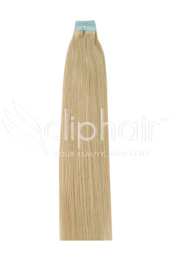 18 Inch Tape in Remy Human Hair Extension, Light Golden Blonde #16