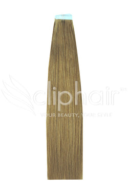 16 Inch Tape in Remy Human Hair Extension, Lightest Brown #18