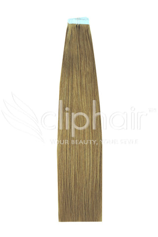 18 Inch Tape in Remy Human Hair Extension, Lightest Brown #18